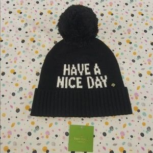 Kate Spade Have A Nice Day Knit Beanie Cap Hat